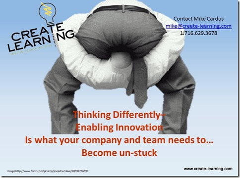 thinking differently enabling innovation www.mikecardus.com