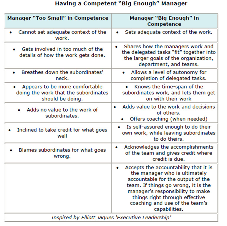 manager competence and incompetence