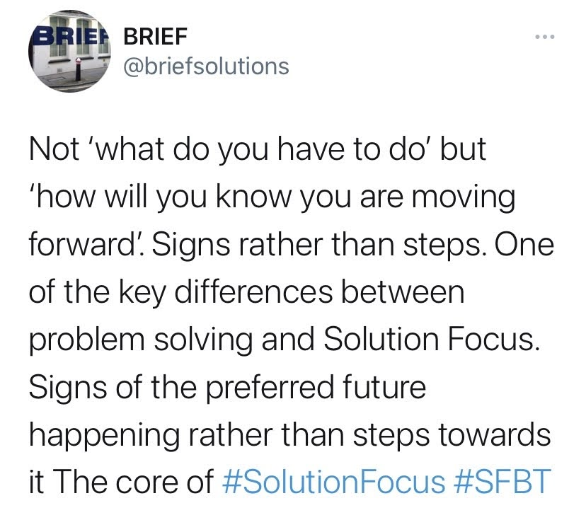 solution-focus questions to make change better