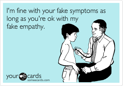 fake empathy and accepting the person